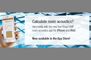 The NEW free Knauf AMF room acoustics app for iPhone and iPad!