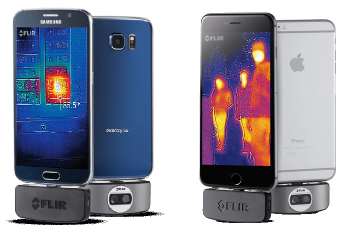 LEFT: FLIR ONE for Android, RIGHT: FLIR ONE for iOS