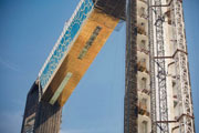 Xport Group is proud to be the first supplier of SS Gold Embossed Panels for the Dubai Frame Project